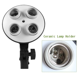 Image 3 - Photo Studio 50*70cm Softbox E27 4 Lamp Holder 100 240v Lighting Soft Box Photography Kit