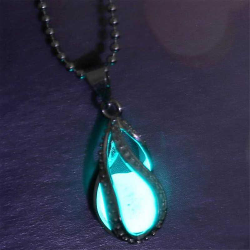 Alla moda Selvaggio Collana di Lusso Collana Lunga Del Pendente Donne Eleganti Glow In Dark Pendente Collana Luminosa di Alta Qualità LX110 L0326