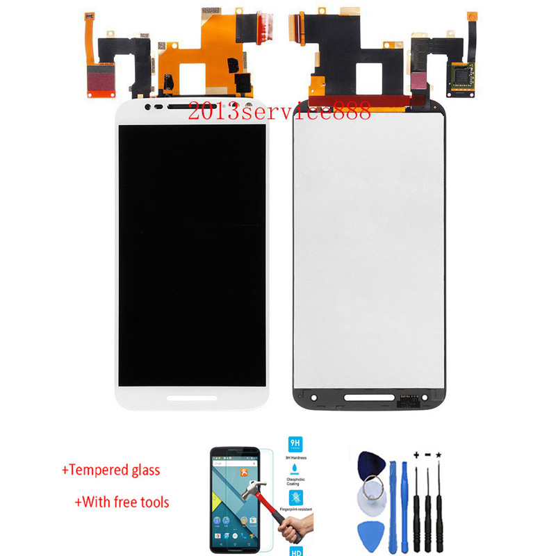 New LCD Display Touch Screen Digitizer Assembly For Motorola Moto X style x3s X3 style XT1570 White With Free Tools