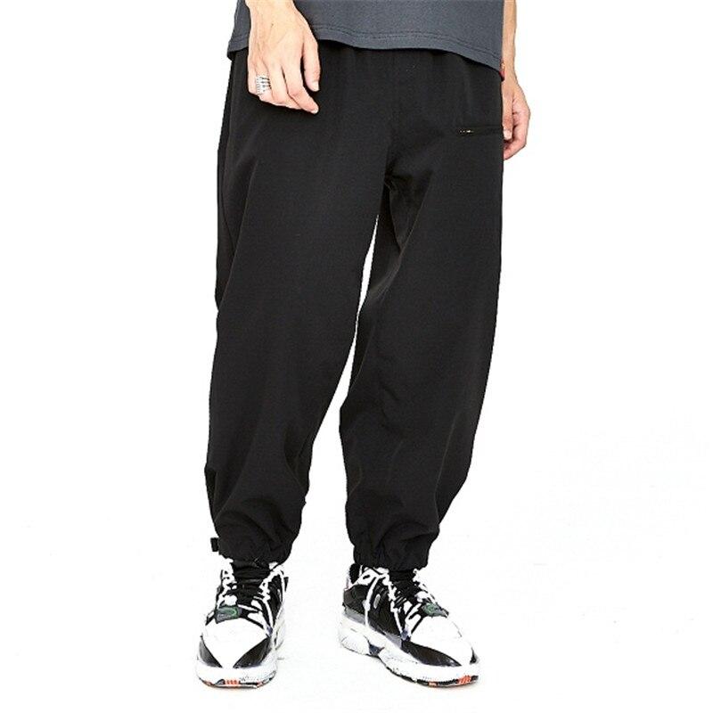Streetwear Di Vita Casual Elastico Hip Il Del Hop Nero Pant Piedino Pantaloni  Uomini Larghi verde ... d7535ede82de