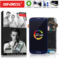 5.0Sinbeda AMOLED For SAMSUNG Galaxy S4 LCD Display Touch Screen with Frame Digitizer For SAMSUNG S4 Display i9500 i9505 i337 @