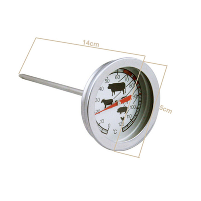 New Stainless Steel Instant Read Probe Thermometer Food BBQ Cooking Meat Gauge