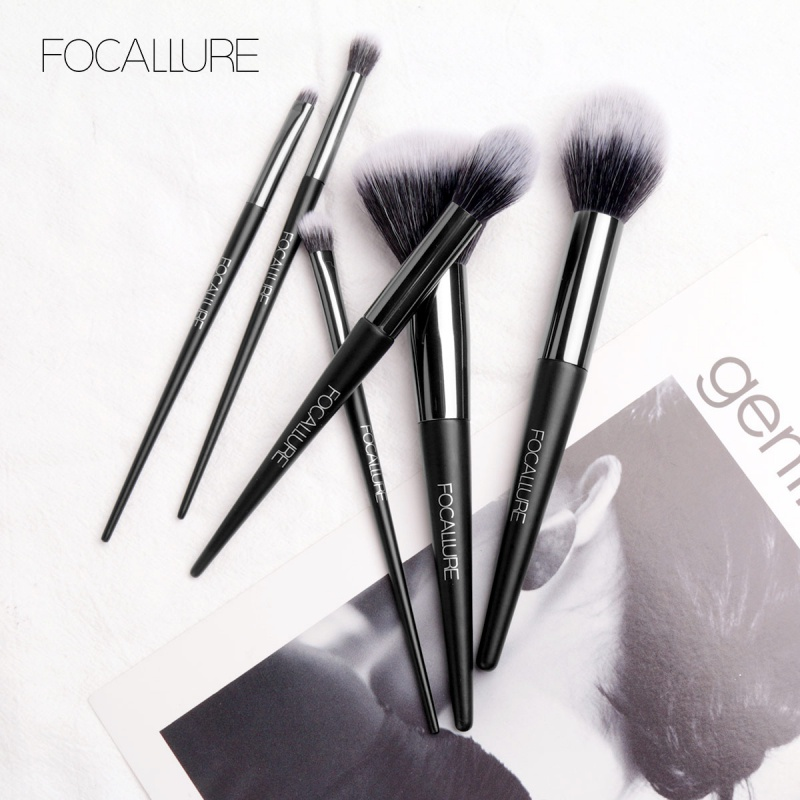 6 Pcs Professional Makeup Brush Set Face Powder Blush Eye Shadows Makeup Brushes Kit lit 11 in 1 professional cosmetic makeup brushes set brown coffee 11 pcs