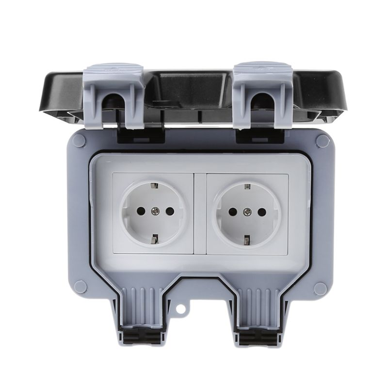 1pc Outdoor Wall Switch Socket Ip66 Weather U0026dust Proof