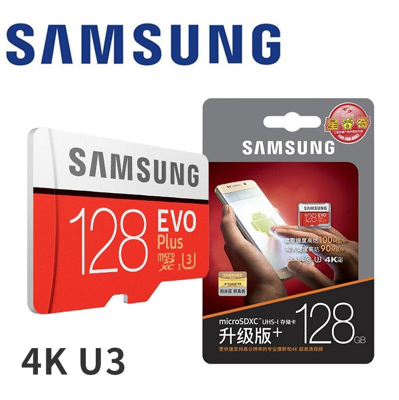 Cartão De Memória SAMSUNG Micro SD 256 GB GB 64 32 GB SDHC de 128 GB SDXC Classe EVO + Classe 10 c10 UHS Microsd TF Cartões SD Trans Flash