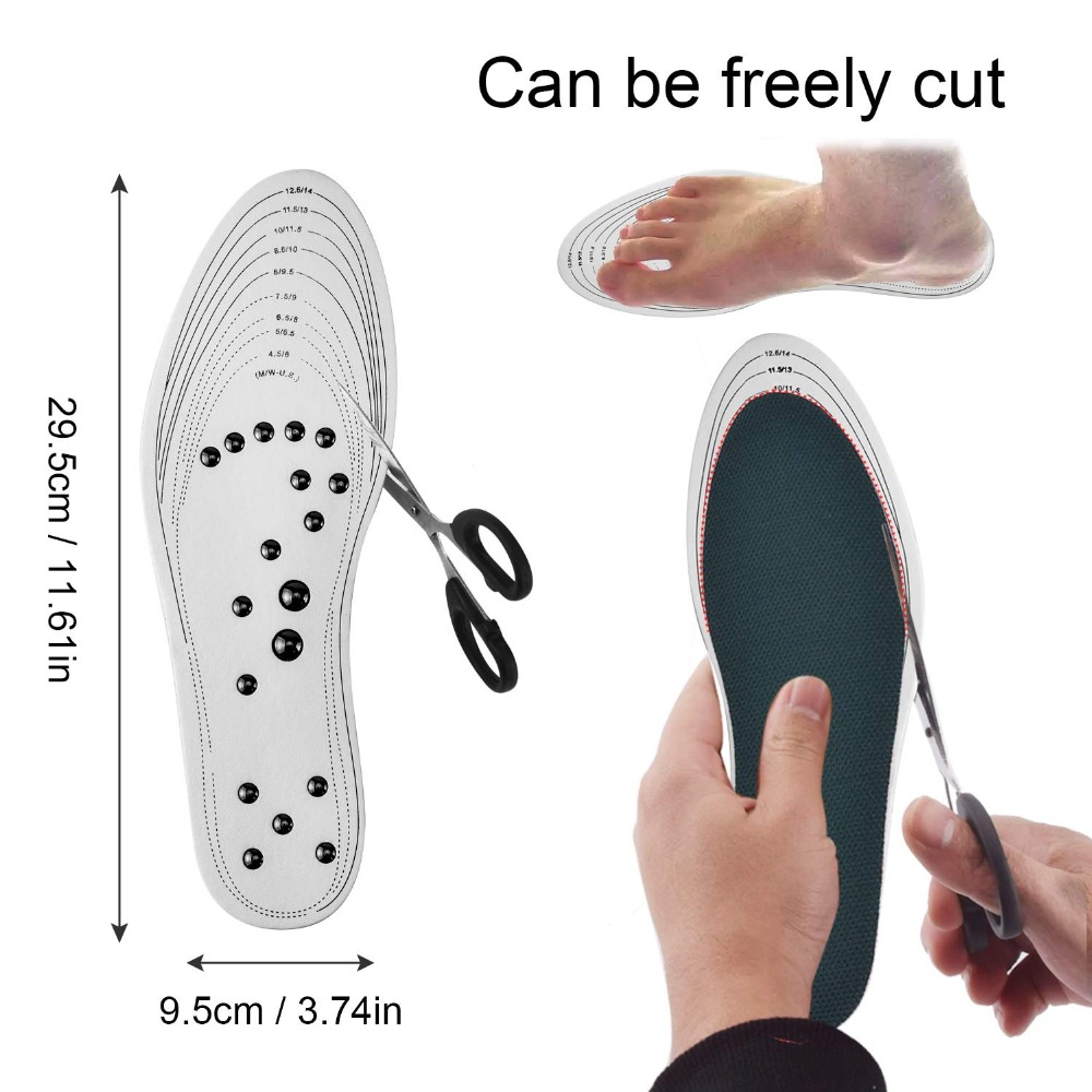Acupressure Magnetic Massage Foot Therapy Reflexology Pain Relief Shoe Insoles Orthopedic Cuttable For Women And Men Shoe Pads