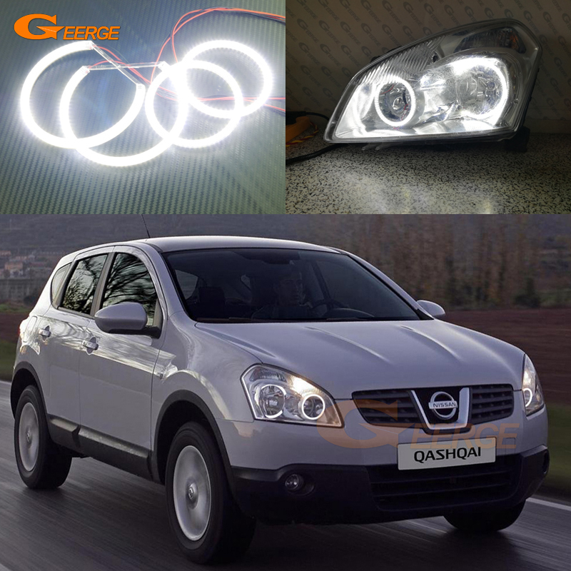 For Nissan Qashqai 2007 2008 2009 2010 Excellent Angel Eyes Ultra bright illumination smd led Angel Eyes Halo Ring kit