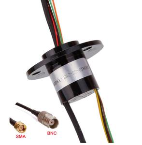 Image 3 - 1080P Mixing Multichannel Sliprings 1CH HD SDI+6CH/12/16 Channel High Frequency Electric Collecting Slip Rings with SMA/BNC
