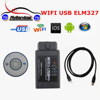 Latest Version ELM327 WIFI USB WIFI327 Auto Scanner Wi Fi ELM 327 OBD2 Diagnostic Scanner Work