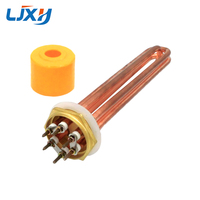 LJXH DN50 2inch Water Heater Heating Element Copper Thread Tubular Electric Heaters Parts 110V 220V 380V