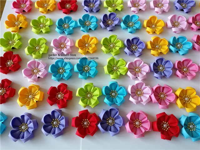 US $90 0  Japanese Flower Sakura Headwear DIY Craft Supplies DIY lapel pins  hair clips red pink yellow lavender-in DIY Craft Supplies from Home &