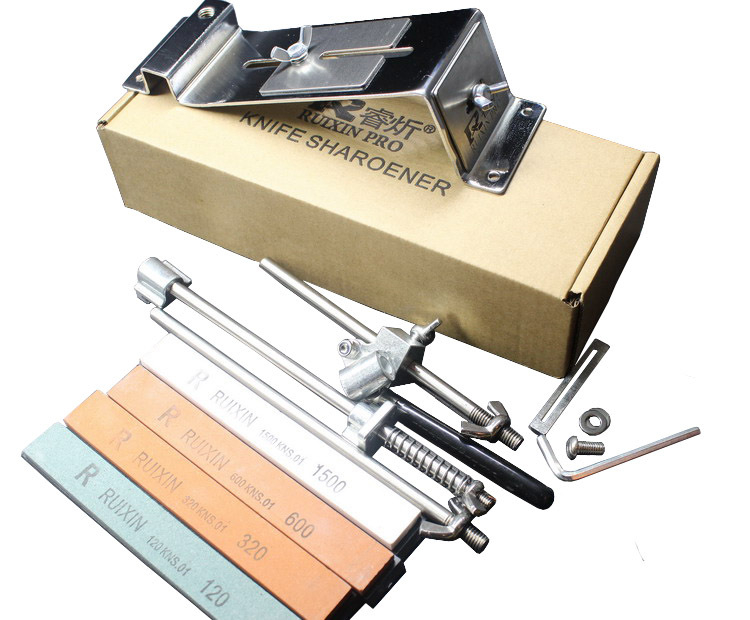 stainless steel Electroplating process cooking tools font b knife b font sharpener system 4pcs sharpening stone