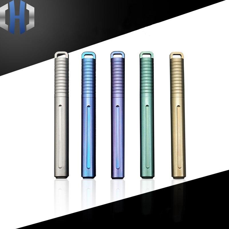 Mini caneta de titânio portátil edc gadget equipamentos ao ar livre personalidade criativa caneta assinatura