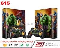 Super Hero Pro Gamer Cover Decal For Xbox 360 Skin Sticker For Xbox 360 E Console