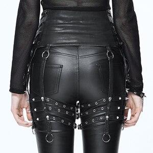 Image 2 - Ağır Punk kemer kişilik perçin pantolon seti bel kadın PU kemer aksesuarları için benzersiz tasarım siyah ince toka kemer kadın moda