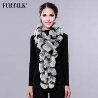 New arrival 80cm long ear neck warmer super nice rex rabbit fur shawl Russian real fluffy fur scarf for winter