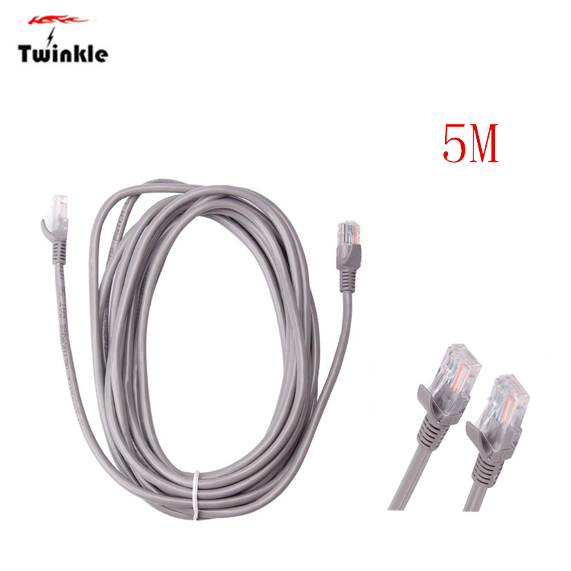 Factory price Cat5e RJ45 Ethernet LAN Network Cable UTP Lead 5M Mfeb29 Drop Shipping Drop Shipping