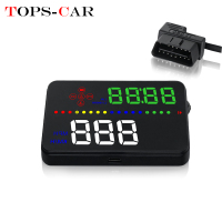 GEYIREN A300 HUD OBD2 GPS Digital Speedometer A3 Car Head Up Display Windshield Speed Projector Water temp Overspeed Alarm