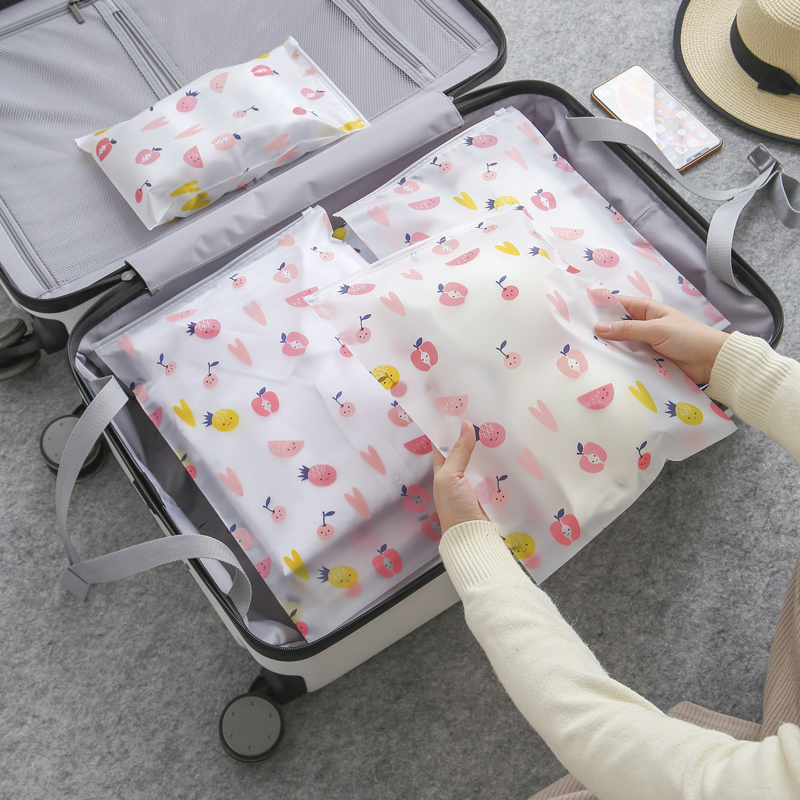 Transparent Fashion Travel Cosmetic Bag Kawaii Waterproof Fruit Make Up Case  Makeup Beauty Wash Organizer Toiletry Storage Box