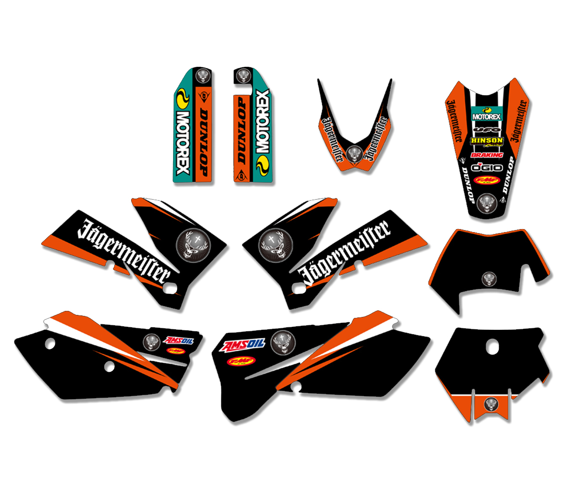 NEW TEAM GRAPHICS DECAL STICKER FIT FOR KTM 125 200 250 300 400 450 525 SX SXF MXC XC XCF XCW EXC EXCR 2005 2006 2007 0584 new team graphics with matching backgrounds for ktm 125 200 250 300 450 500 exc xc w xcf w six days 2014 2015 2016
