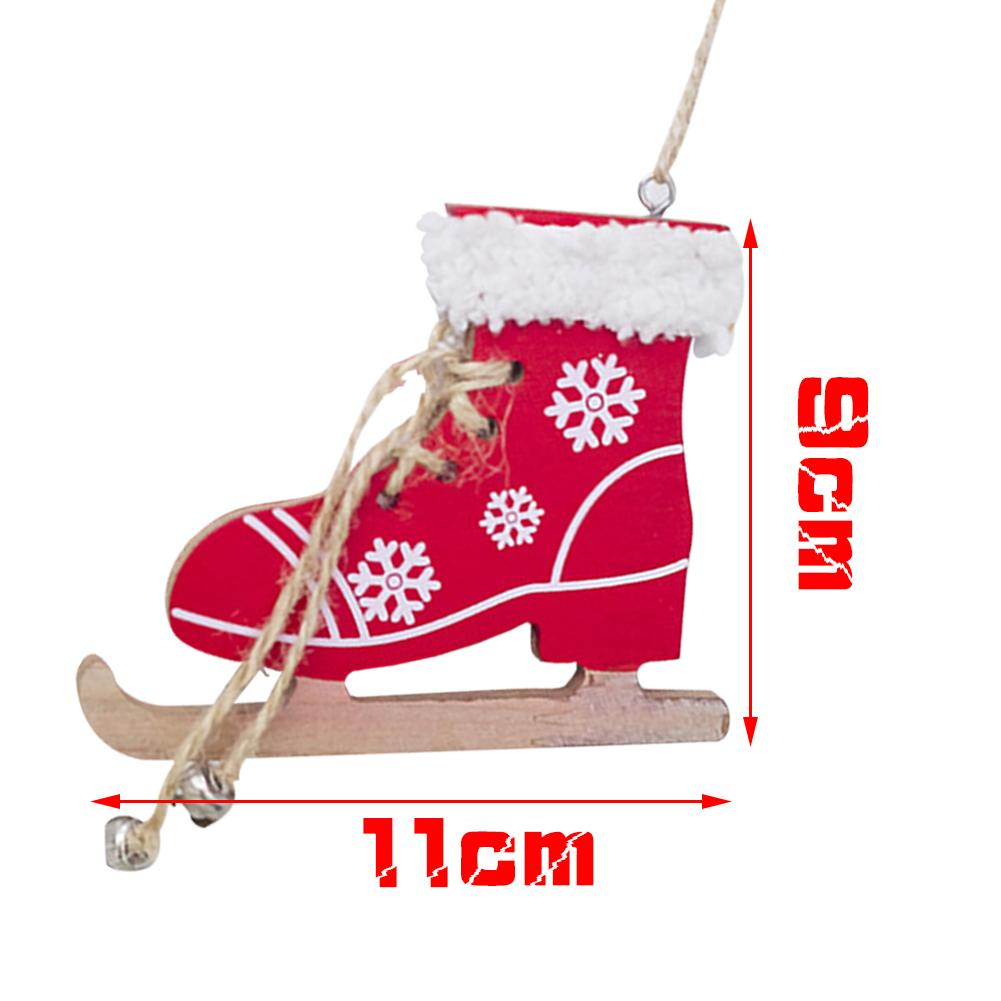 Diamond Innovative Skates Ski Shoes Pendant Christmas Painted Decorative Pendant Christmas Tree Christmas Home Decorations