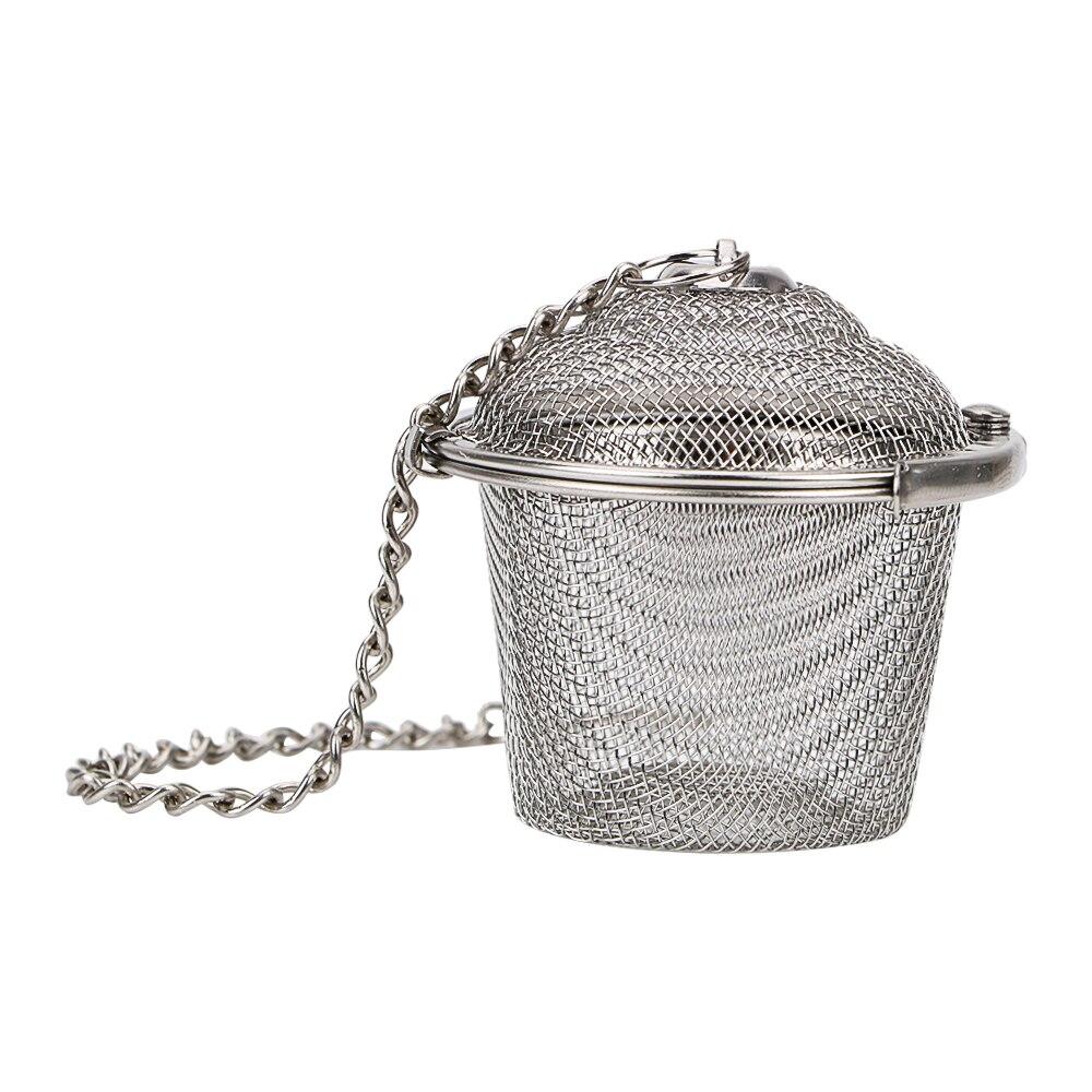 HILIFE Stainless Steel Teakettle Locking Tea Filter Seasoning Ball Multifunction Mesh Herbal Ball Tea Spice Strainer Reusable 5