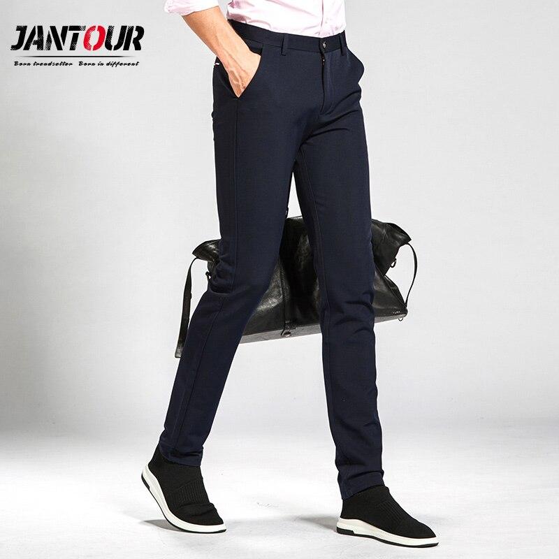 Haute qualité casual pantalon hommes marque vêtements coton 2017 Nouveau mode mâle Épais affaires costume formel pantalon Grande taille 38 40