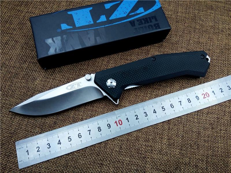 KESIWO Flipper Folding font b Knife b font ZT0303S D2 blade G10 Handle outdoor font b