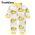 Cute Cartoon Animal Duck Baby Girl Boy Rompers Infant Long Sleeve Car Printed Toddler Jumpsuit Clothes Ropa Bebe Costumes