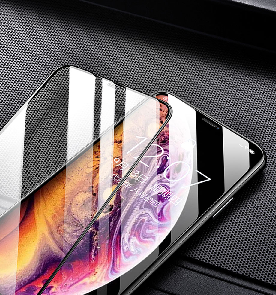 30D Protective Glass on the For iPhone X XS Max XR Tempered Screen Protector Film Curved Edge Glass XR XS Max Full Cover Glass 15