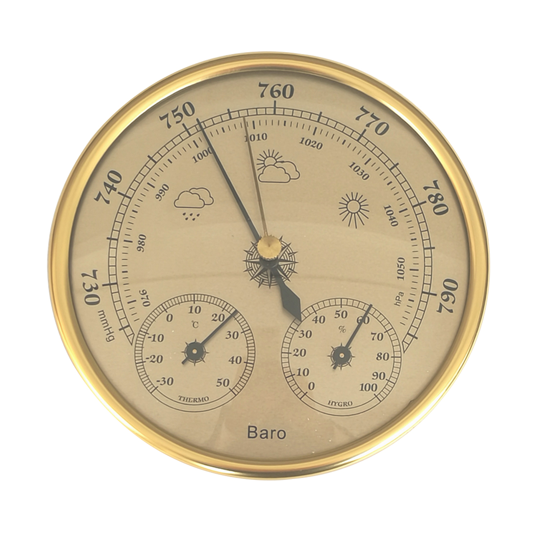 3 In 1 Wall Mounted Household Thermometer Hygrometer