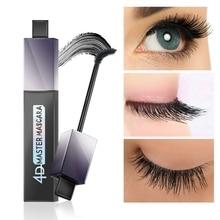Fashion 4D Silk Fiber Eyelashes Lengthening Mascara Waterproof Long Lasting Lash Black Eyelashes Extension Make up Mascara недорого