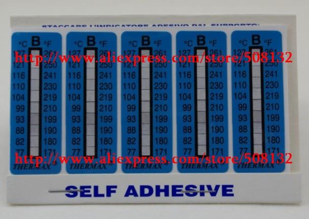 TMC 10 strips THERMAX Temperature Label 10 Level Range B