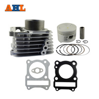 AHL Bore 57mm Motorcycle Cylinder REBUILD Kit For SUZUKI GZ125 GZ 125 Air Cylinder Block & Piston Kit & Head Gasket Kit