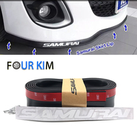 Universal Black Soft Rubber 2 5m Car Front Skirt Bumper Strip Car Styling Car Covers 58mm