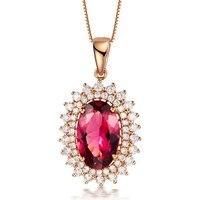 ZOCAI БРЕНД Victoria 2.40 КТ Турмалин DIAMOND18K розового золота кулон 925 Stering серебряная цепочка ожерелье P1795 1
