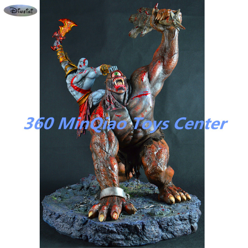 God of War Statue Kratos Ye Bust Kratos War Cyclops Scene Avatar Bloody Scenes Of Melee Full-Length Portrait Model Toy WU843 god of war statue kratos ye bust kratos war cyclops scene avatar bloody scenes of melee full length portrait model toy wu843