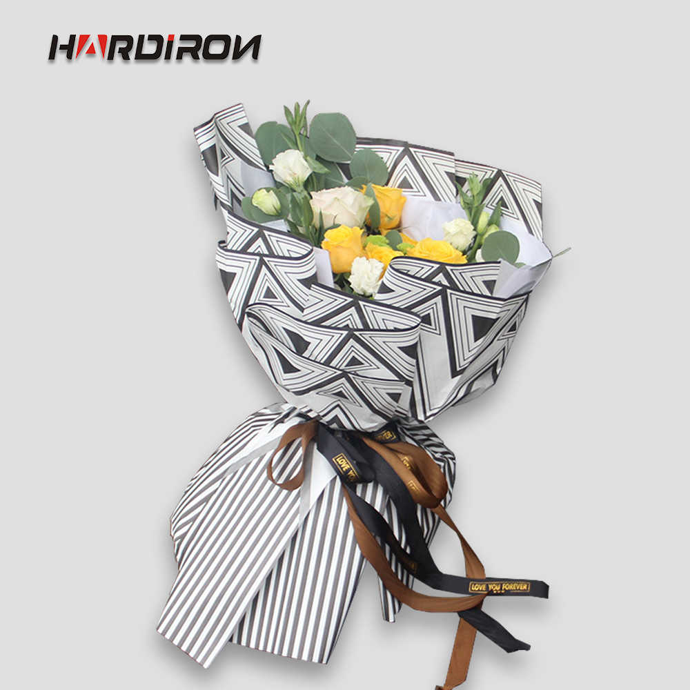 HARDIRON 58x58cm 20pcs Stripe Bouquet Packaging Paper Aromatherapy paper Flowers Florist Supplies Wrapping Paper Valentine's Day