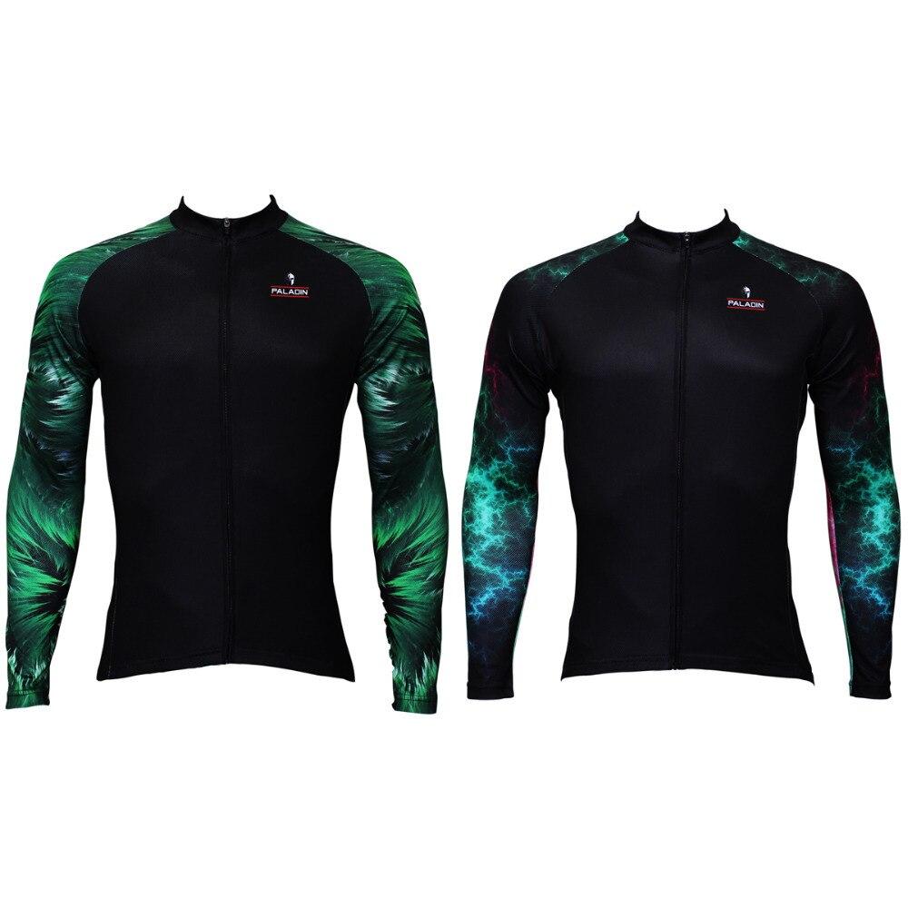 Nová zelená Aurora vzor Pánské Cyklistika Jersey Cyklistika / Cyklistická košile Polyester Prodyšný Ciclismo Ropa Velikost S-6XL Doprava zdarma
