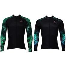 Nueva Aurora verde patrón Mens Ciclismo Jersey de la bici / camisas de poliéster transpirable Ciclismo Ropa tamaño S-6XL envío gratis