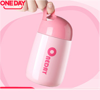 Thermos Cup Tepmoc Cup Drinkware Steel Women Vacuum Flask 280ml Mini Thermos Cute Belly Cup Portable