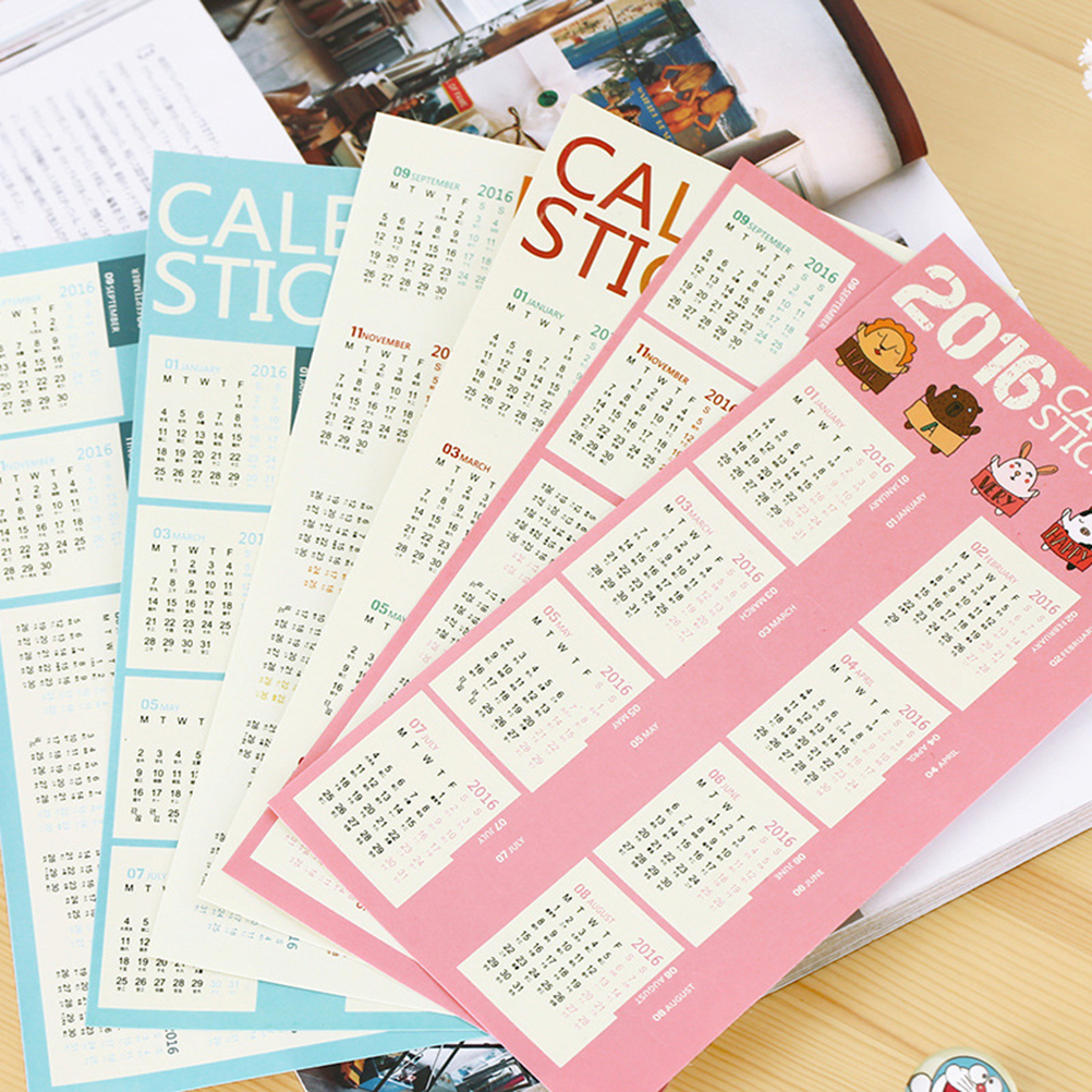 2 Sheet New Calendar Sticker Diary Planner Notebook Journal Tag Bookmark For Scrapbooking On Sale