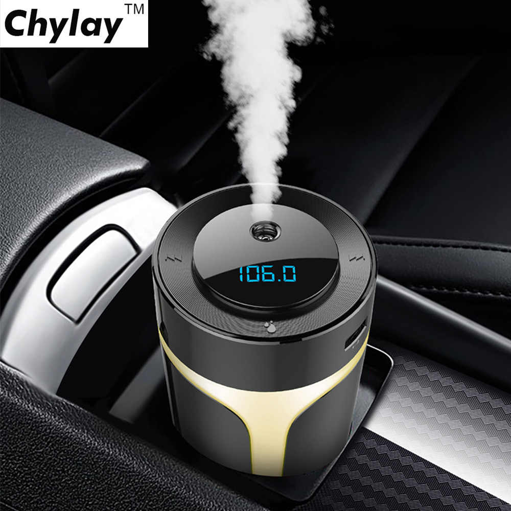 Air Purifier Negative Ions Air Fresh Ionizer Car Bluetooth Aux Adapter with QC3.0 Charger Bluetooth Music play Car Kit