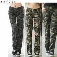 Femmes entraînement décontracté militaire Camouflage Cargo Jeans Pantalon Denim salopette dames droit multi-poches Pantalon Femme