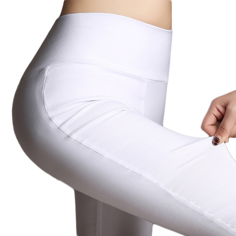 Summer Elegant Women's Casual Calf Length Pants OL Work Wear Slim Stretch Pencil Pants Trousers Women Female Candy Color bottoms