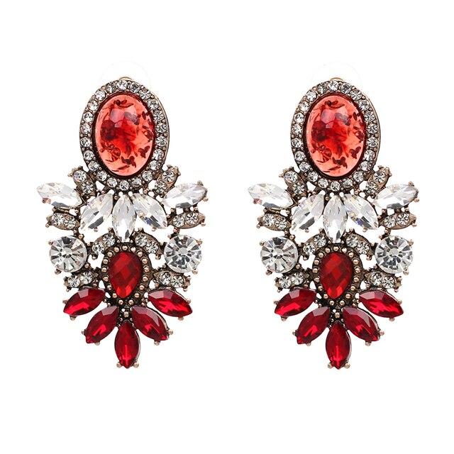 JUJIA trendy fashion bijoux En Gros bonne qualité grand cristal boucles d'oreilles 2017 Nouvelle déclaration de mode boucles D'oreilles pour les femmes