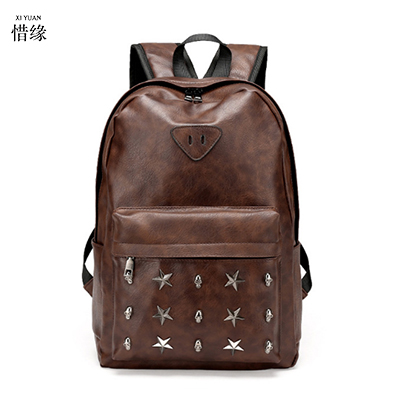 XIYUAN New Arrival 2017 Male Functional back bags Fashion male backpack PU Leather backpacks big capacity Men chinese baobao zebella travel high quality pu leather men backpack big capacity waterproof functional male backpacks school teenager men bags