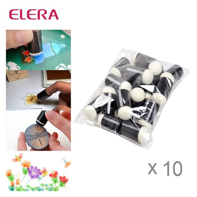 ELERA 200 шт./лот, пенопласт для нанесения чернил, мелок для окрашивания, изменение любого ремесленного проекта, рисование пальцев