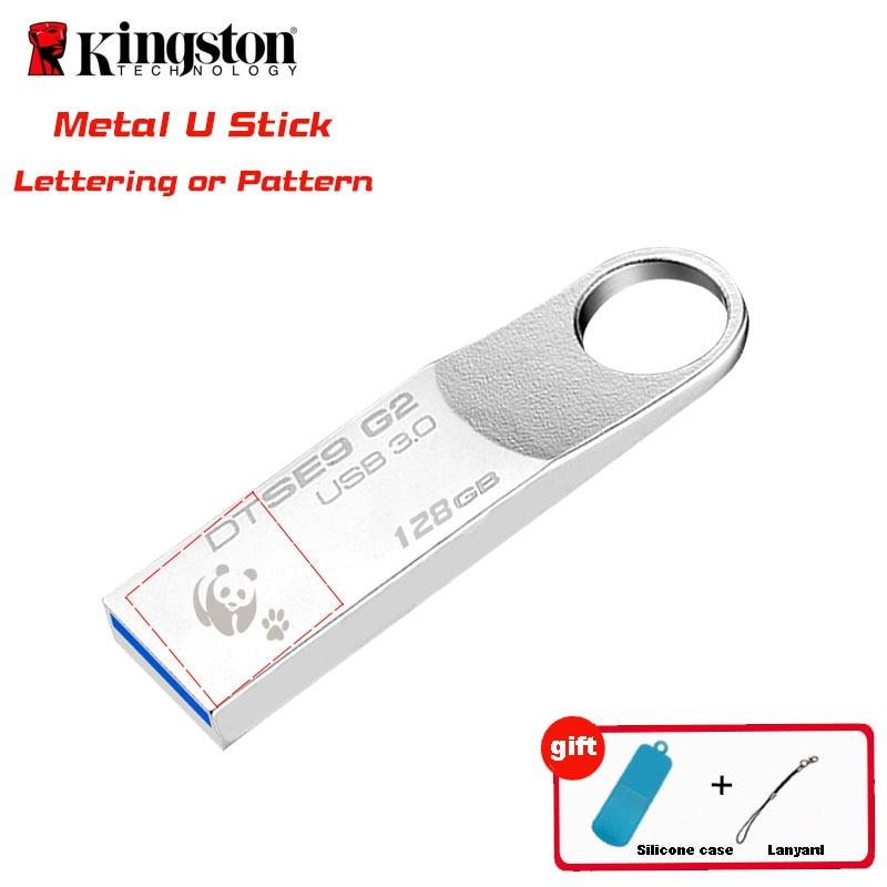 Kingston USB Flash Drive USB3.0 128 gb Pendrive usb 3.0 Fllash Personnalité de Cadeau D'anniversaire cle usb Memory Stick Stylo Drive