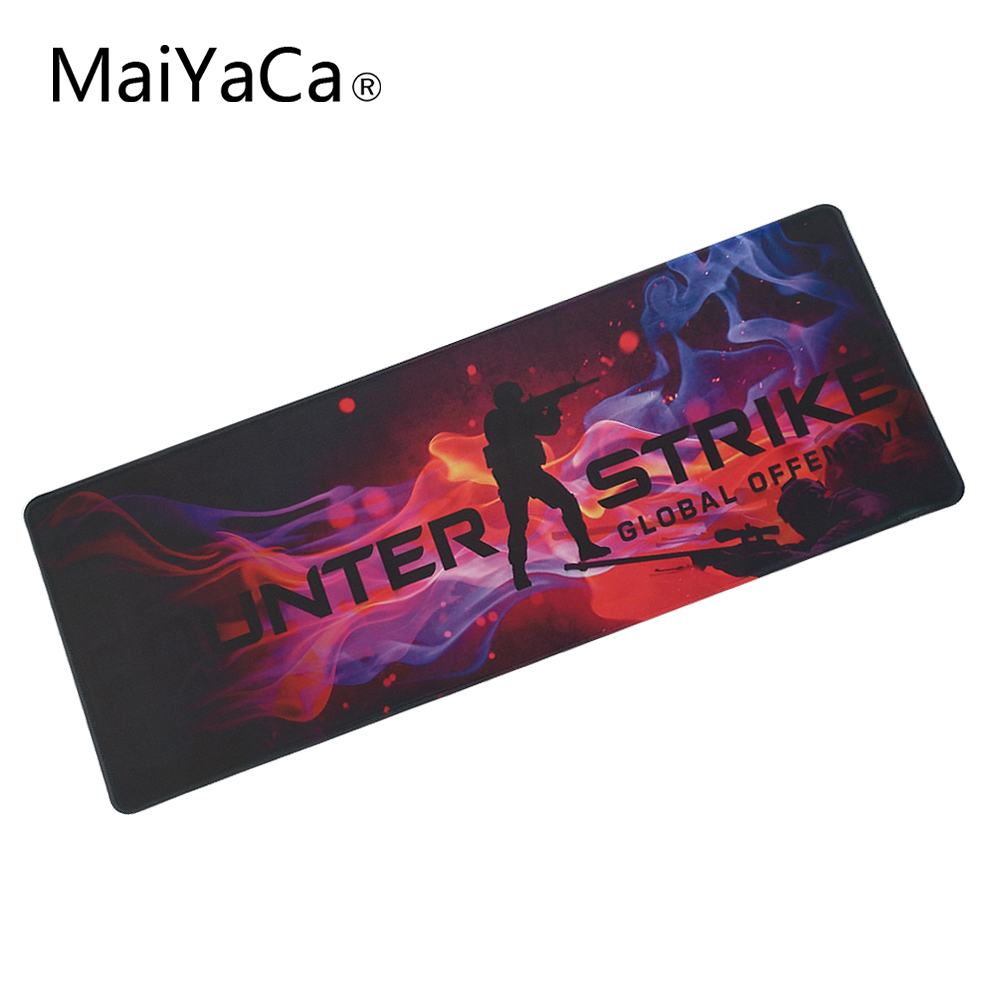 MaiYaCa Print Locking Edge Rubber Mousepads for Cs Go Counter Strike Mice Mat DIY Design Pattern Computer Gaming Cloud Mouse Pad  stitched edge rubber cs go large gaming mouse pad pc computer laptop mousepad for apple logo style print gamer speed mice mat